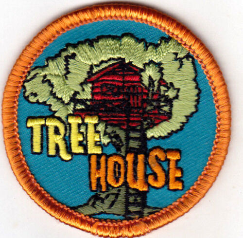 """TREES CHILDREN /""""TREE HOUSE/"""" Iron On Embroidered Patch PLAYHOUSE"""