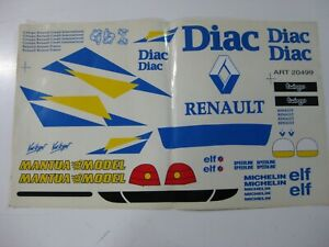 Vintage Mantua Model Decal Stickers Renault Wrc R/c 1/8 1/10-nuevo