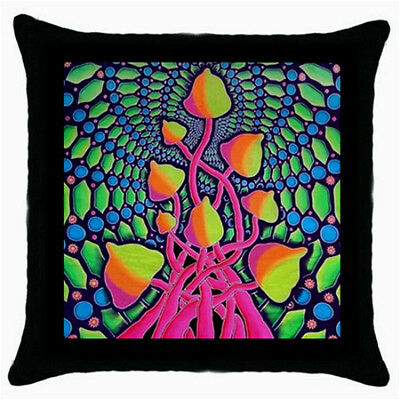 Tie-Dye Hippy Mushrooms Psychedelic Throw Pillow Case