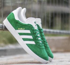 new arrival cc06c 38a3d Image is loading Adidas-Originals-Gazelle-BB5477-Men-039-s-Green-