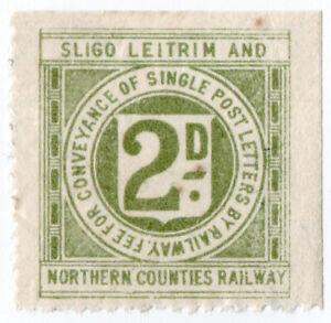 I-B-Sligo-Leitrim-amp-Northern-Counties-Railway-Letter-Stamp-2d