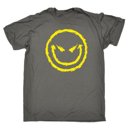 Evil souriant T-Shirt Caricature Humour Geek Blague diable Top Tee-Shirt Cadeau Anniversaire Drôle