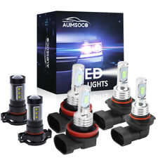 For Chevy Silverado 1500 2500 Hd 2007 2015 6000k Led Headlights Fog Bulbs Kit 6x Fits 2007 Chevrolet Suburban 1500