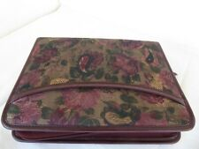 Compact 1 Rings Burgundy Floral Planner Binder Zip Fit Franklin Covey