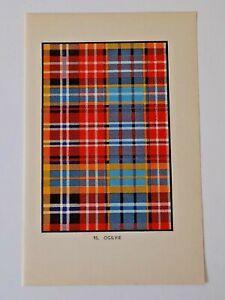 McNeill of Colonsay Tartan Vintage Colour Print 1950/'s