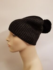 f63fdc1ddc4 Lululemon All That Shimmers Toque NWT O S BLK BLK Black Beanie Wool ...