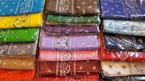 Lot 12 Paisley Print Scarf Bandanas Head Wrap Wristband 100/%Cotton Pick UP color