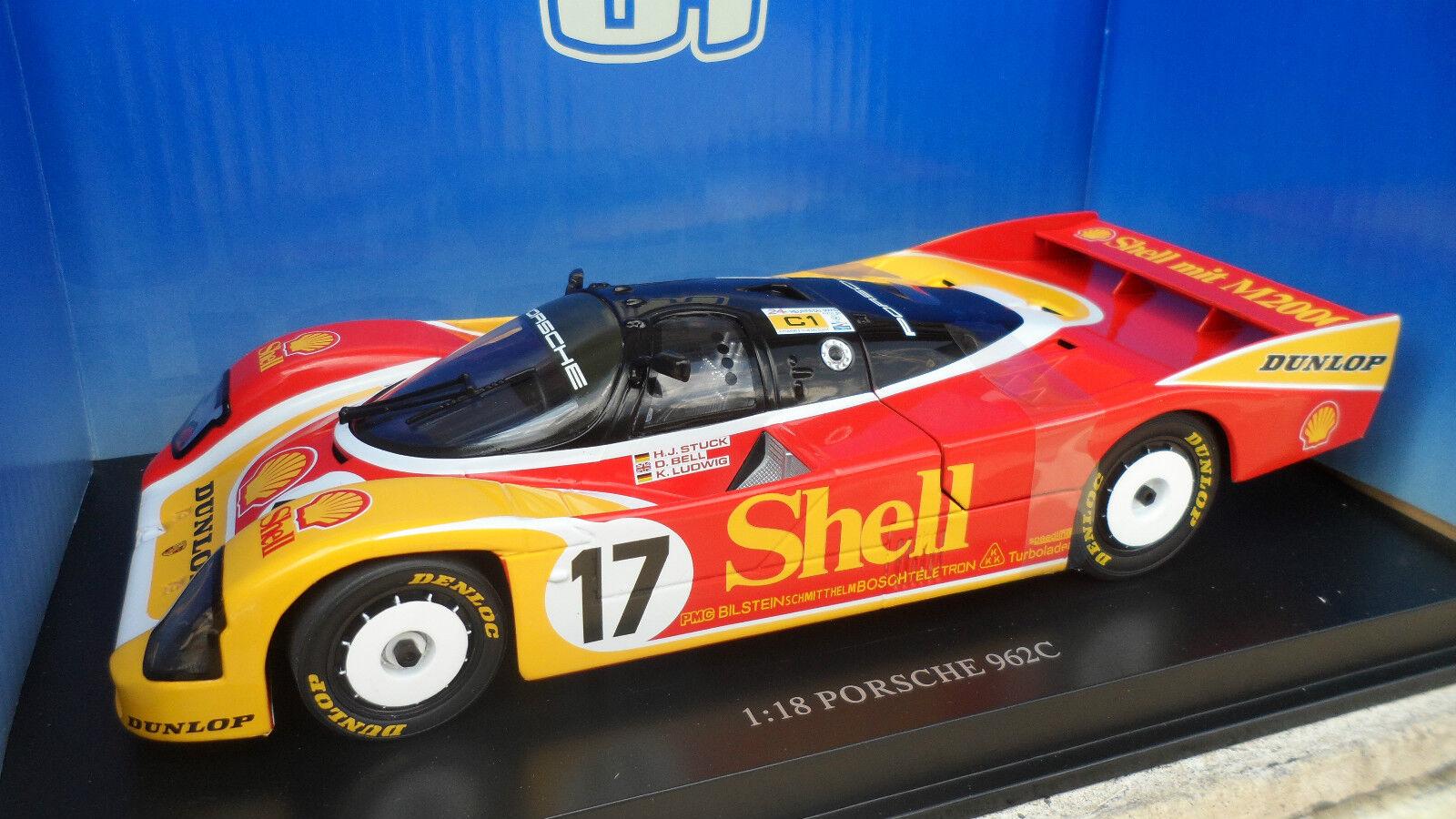 PORSCHE 962C SHELL 24 HEURES LE MANS 1988 au 1 18 UNIVERSAL HOBBIES voiture