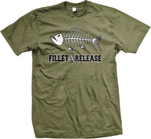 Fillet Release Fishing Funny Fisherman Bones Lake Bait Tackle Box Mens T-shirt