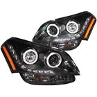 Headlight Assembly-Projector with Halo Clear Lens CCFL Black Left,Right Anzo