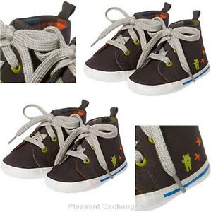 NWT-Gymboree-3-6-mos-MONSTER-FUN-Baby-Boys-Alien-Crib-Sneakers-Shoes-Sz-02-TWIN