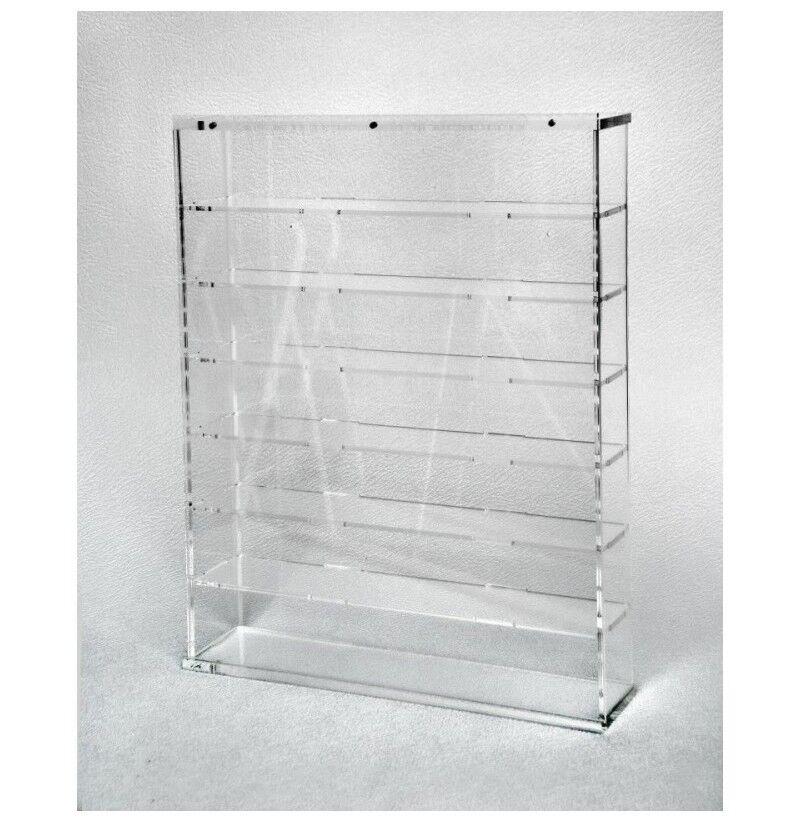 Bacheca Vetrina in plexiglass Scala 1 43 fondo trasparente - 7 ripiani bacheca m