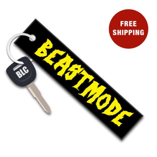 BEASTMODE Embroider Motorcycle Motorbike Car Fabric Keytag Key Chain Keyring