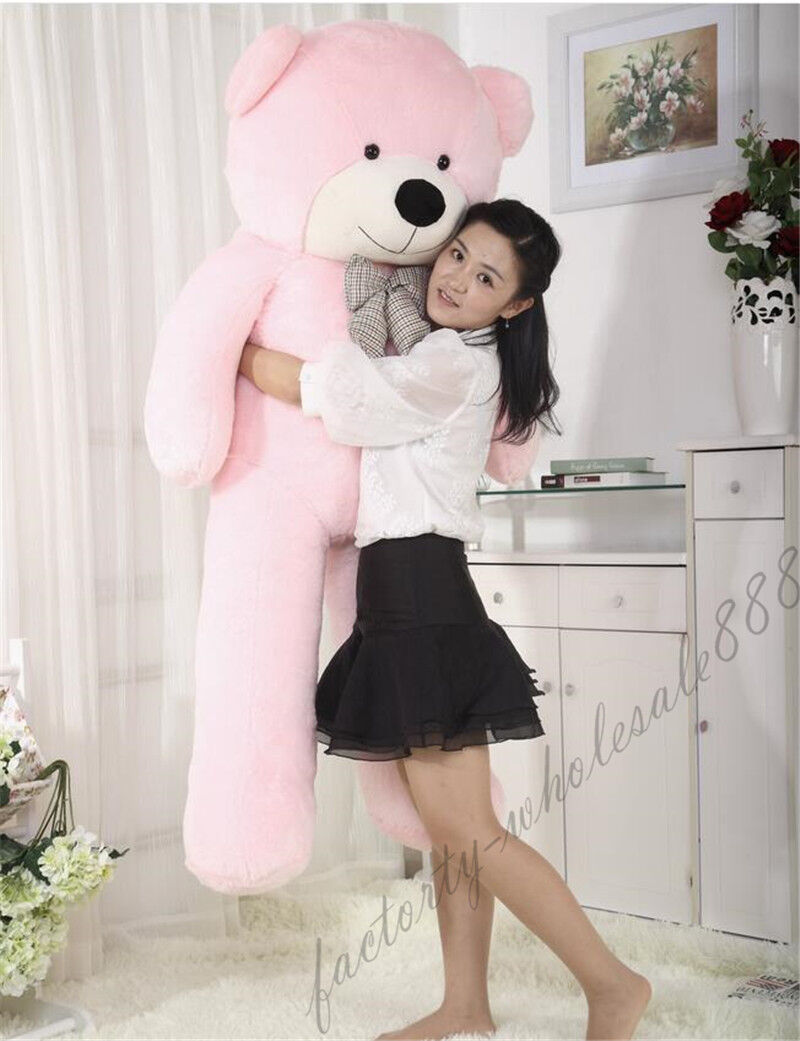 63in.  pink teddy Bear Giant Huge Big Stuffed Animals Plush Soft Toys Doll Gifts