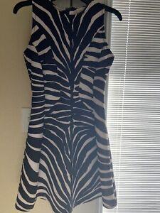 MK Michael Kors Women Zebra Print Mini Sleeveless A Line Dress Size 2 Small Euc