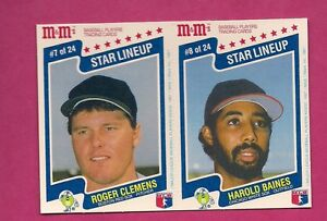 RARE-1987-ROGER-CLEMENS-HAROLD-BAINES-M-amp-MS-PANEL-CARD-INV-0972