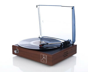 Turntable-gramophone-Platterspieler-BROWN-or-BLACK-for-78-RPM-speakers-records