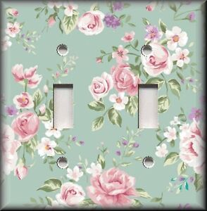Floral Home Decor Light Switch Plate Cover Pink Roses
