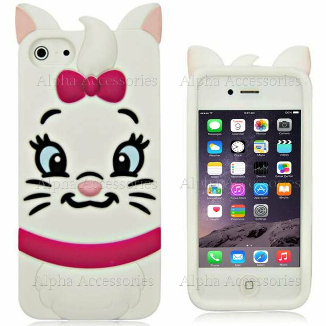 Cute 3D Cartoon Soft Silicone Rubber Case Cover Skin For Apple iPhone 6S, 5S, 4S