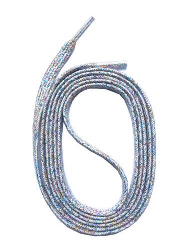 SHOELACES Flat Laces GLITTER WHITE Replacement shoelaces SNORS shoefriends