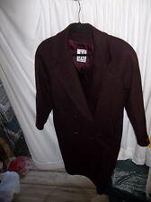 Jones New York Women's Maroon 100% Wool Size XL (16-18) Winter Coat NICE!