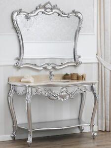 Consolle e specchio Eleonor stile Barocco Moderno arredo bagno ...