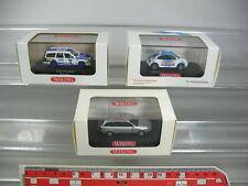 AB25-0,5# 3x Wiking H0 PKW: 035 New Beetle, 264 Volvo, 130 Audi A6, NEUW+OVP