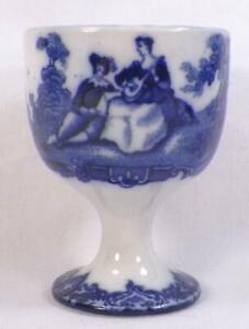 Royal-Doulton-Watteau-Flow-Blue-Egg-Cup-Earthenware-A-Beauty-1