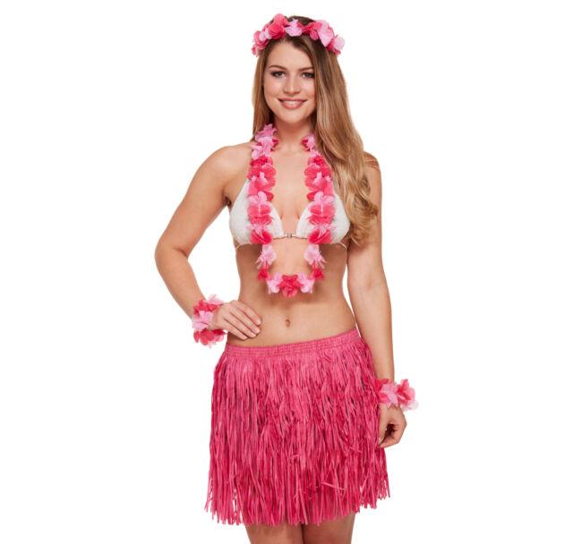 Unisex Neon Hawaiian Leis Hawaii Neck Garland Hula Girl Fancy Dress Accessory