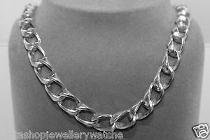 Gents-Chain-Unusual-1x1-Style-76g-Sterling-Solid-925-Silver-18-034-New-Heavy