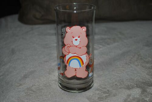 CARE BEARS CHEER Bear Collectors GLASS CUP 1983 Vintage Pizza Hut Limited Ed