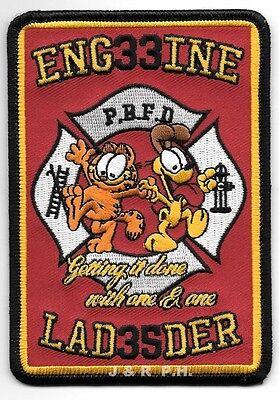 """Pouqonnock Bridge  Engine-33 // Ladder-35 3.5/"""" x 5/"""" size CT fire patch"""
