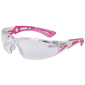 Bolle-Rush-Plus-Small-Safety-Glasses-White-Pink-Temples-Clear-Anti-Fog-Lens