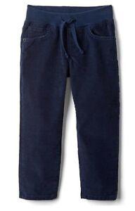 e8593258a81 Baby Gap Boy Toddler Slim Fit Stretch Pants Corduroy Navy Blue 12-18 ...