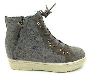 Image is loading OTBT-Womens-Gower-High-Top-Sneaker-Boot-Fuzzy-