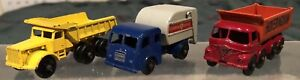 LOT-of-3-Lesney-Matchbox-1-75-Series-All-Original-Trucks-Commercial-Vehicles-NR