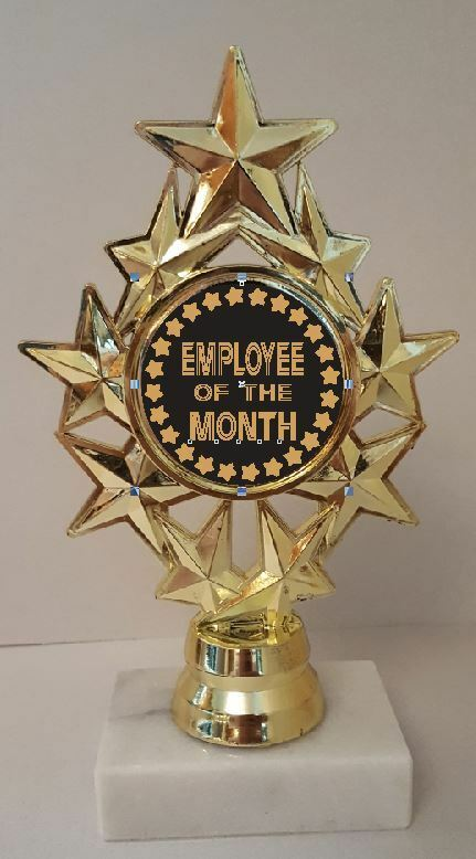 Employee of the Month Trophy 7  Tall  AS LOW AS  3.99 each FREE SHIP T04N11