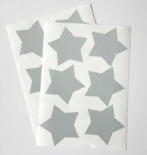 12 Large Silver Reflective Star Stickers - cycling, running or decoration (094)