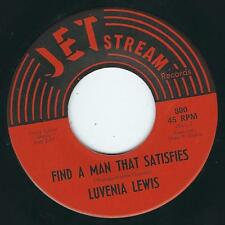 TX Northern soul Sweet Luvenia Lewis JET STREAM 800 Find a man that satisfies ♫