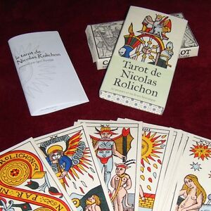 Tarot-de-Nicolas-Rolichon-GRAND-FORMAT-cartes-a-l-039-ancienne-style-Dodal-Payen