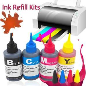 Universal-Color-Ink-Cartridge-Refill-Kit-100ml-for-HP-amp-Canon-Series-Printers