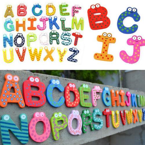 Wood Fridge Magnet Alphabet Animal Number Early Educational for Kids Baby