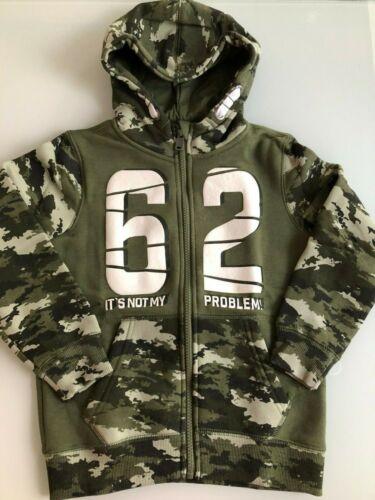Jungen Sweatjacke Camouflage mit Kapuze Taschen Design Camouflage-Muster Kinder