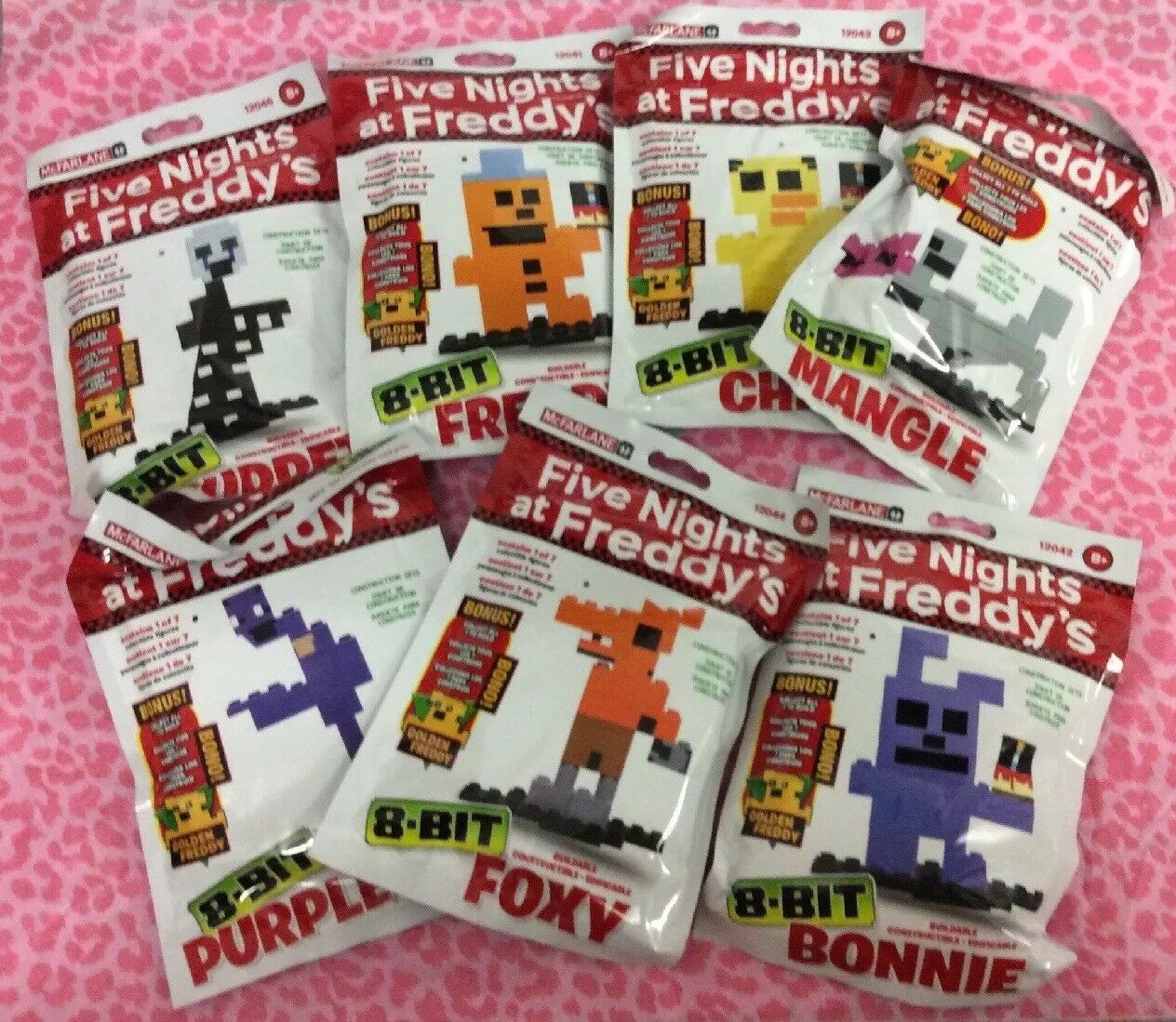 FIVE NIGHTS AT FrotDY'S 8-BIT BUILDABLE FIGURES MCFARLANE - OFFICIAL - Set Of 7