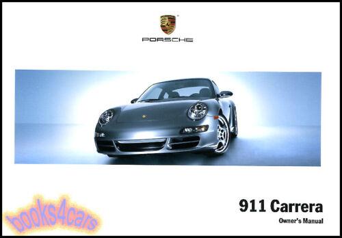 OWNERS MANUAL PORSCHE 911 2007 BOOK CARRERA HANDBOOK GUIDE 07 CARERRA S