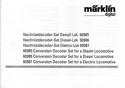 Fiducioso Märklin Manuale Per La Mfx Decoder 60985-87 In Tedesco E Inglese-itung Für Die Mfx Decoder 60985-87 In Deutsch Und Englisch It-it Mostra Il Titolo Originale