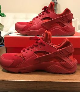 cheaper fd419 32158 Details about Nike Air Huarache Triple Red Size 10.5