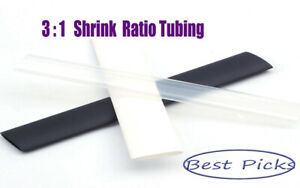 """3//4/"""" Heat Shrink Tubing Sleeve Wrap Wire Glue Lined Adhesive 3:1 Clear 10 FT"""