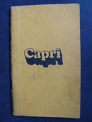 Ford Capri - Us-betriebsanleitung / Operation Manual 04.1974