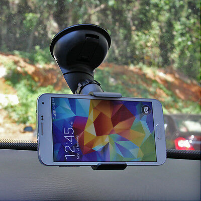 360 Rotating In Car Windshield Mount Stand Clip Cradle Holder for Cell Phone GPS